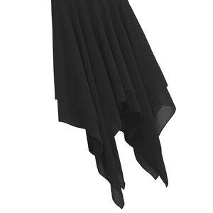 Image 5 - למבוגרים נשים אלגנטי עכשווי Dancewear בלט בגדי גוף לנשים ספגטי רצועת אסימטרית שיפון סלוניים שמלת ריקוד חדש