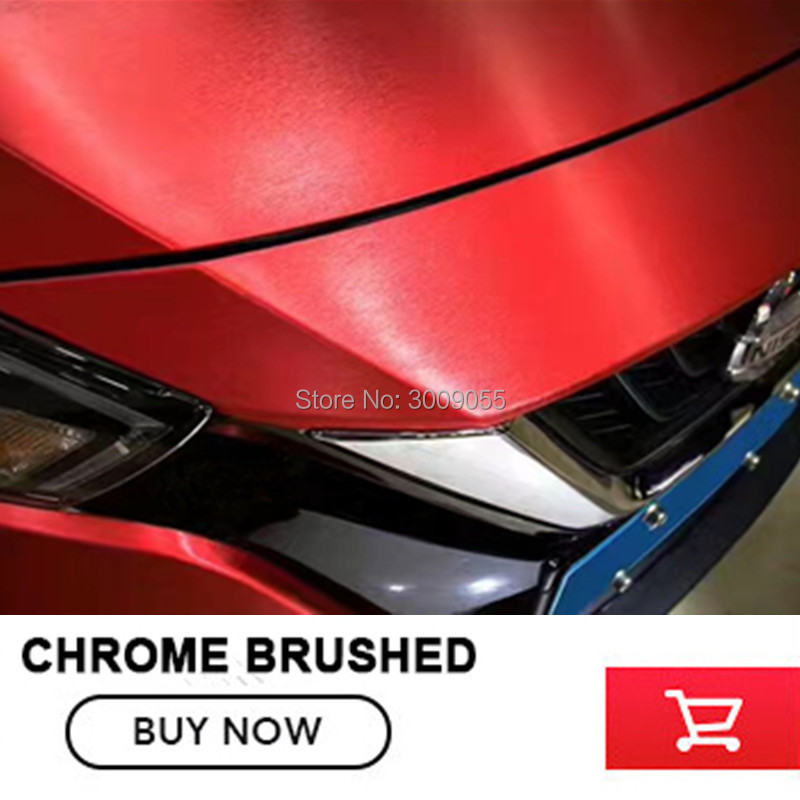 red Matte Chrome Brushed red Vinyl Wrap Film Bubble Free For Car Wrapping chrome Brushed Car Sticker-in Car Stickers from Automobiles & Motorcycles    1