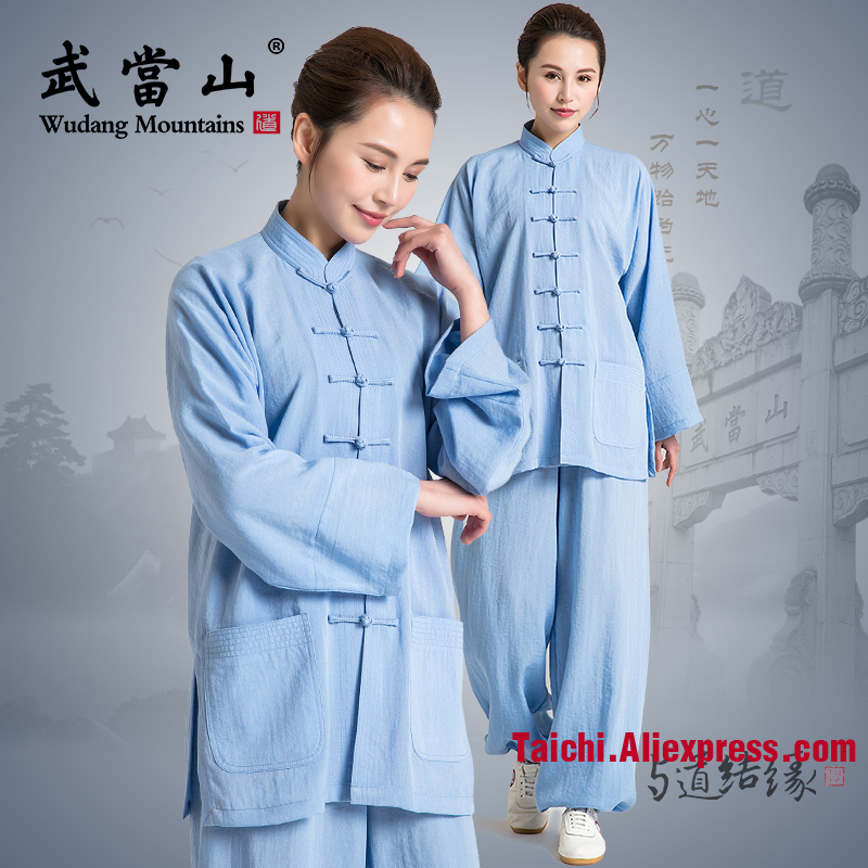 Linen Tai Chi Uniform  Flax Traditional Taiji Clothing Tai Chi Exercise  Kung Fu Clothing Unisex Wu Shu Clothing  Variety Colors