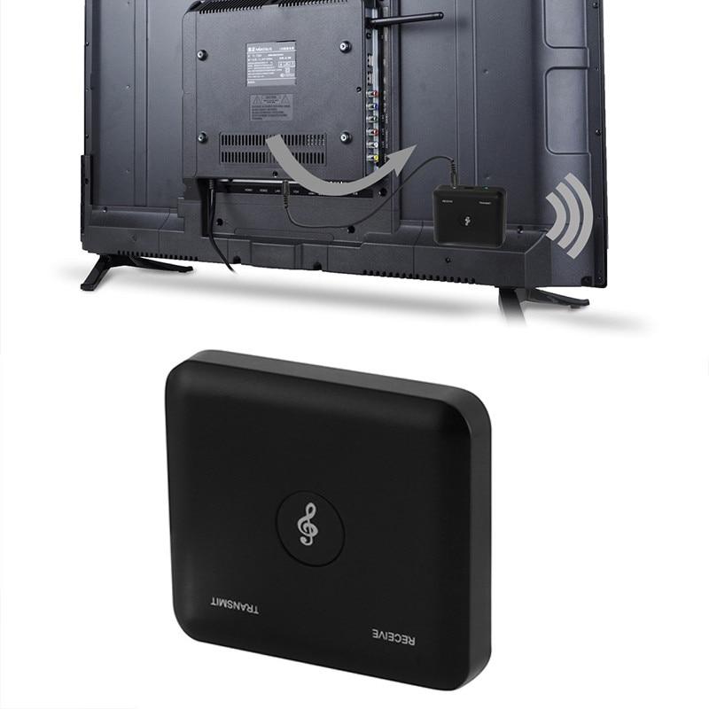 Doitop 2 In 1 Draadloze Bluetooth Audio Adapter Voor Speaker Tv Pc Mp3 Mp4 Projector Zender Muziek Ontvanger Voor Ios Android Helder En Doorschijnend Qua Uiterlijk
