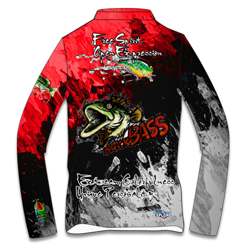 Fun 2019 Men Women Long Sleeve Fishing Clothes Outdoors Quick Dry Fishing Sweater Shirt Red Green Competition Service in Fishing Clothings from Sports Entertainment