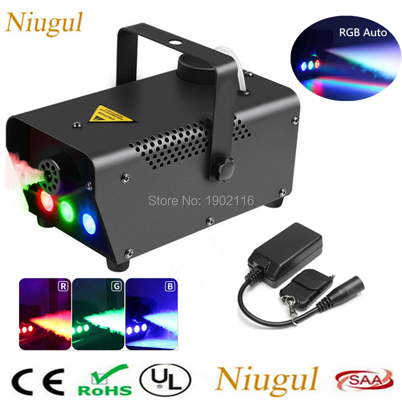 500W Remote Control Fog Smoke Machine With RGB LED Lights/LED Smoke Ejector /DJ Home Party Stage Smoke Thrower /Disco Bar Fogger