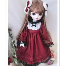 Модная кукольная одежда для кукол Blyth 1/6 BJD 1/4 MSD, мини кукольная одежда, наряды для кукол, аксессуары включают платье, головной убор