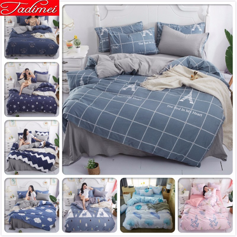 Single Twin Full Double Queen King Size Duvet Cover 3/4 Pcs Bedding Set Adult Kids Soft Cotton Bed Linen 180x220 200x230 220x240Single Twin Full Double Queen King Size Duvet Cover 3/4 Pcs Bedding Set Adult Kids Soft Cotton Bed Linen 180x220 200x230 220x240
