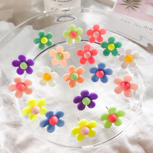 2019 New Arrival Plant Resin Women Hyperbole Stud Earrings Small Fresh With Color Flowers Fashion Jewelry
