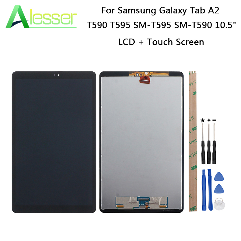 Alesser For Samsung Galaxy Tab A2 T590 T595 SM-T595 SM-T590 10.5 LCD Display+Touch Screen For Samsung Galaxy Tab A2 +Tools+TapeAlesser For Samsung Galaxy Tab A2 T590 T595 SM-T595 SM-T590 10.5 LCD Display+Touch Screen For Samsung Galaxy Tab A2 +Tools+Tape