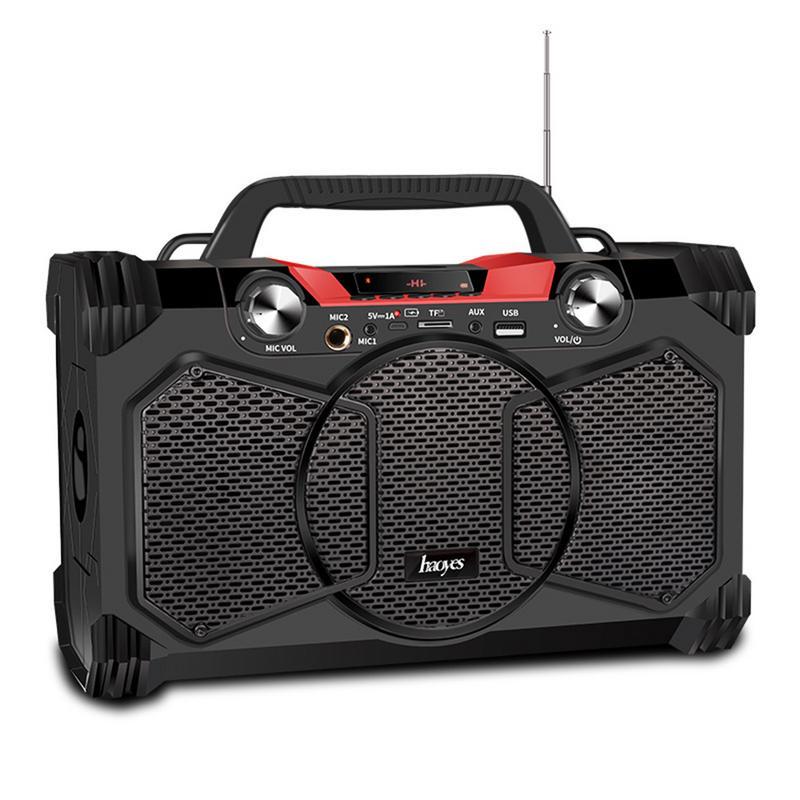 Haut-parleur Bluetooth Subwoofer extérieur affichage numérique téléphone portable maison carré karaoké sans fil haut-parleur de basse Stable haute puissance