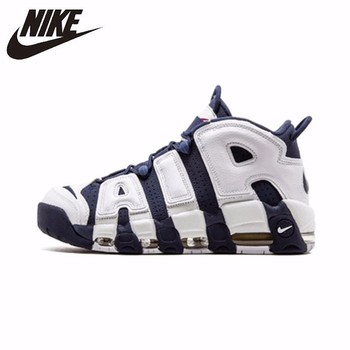 Nike Air More Uptempo Olympic Original Men oddychające buty do koszykówki wygodne buty do masażu #414962-104