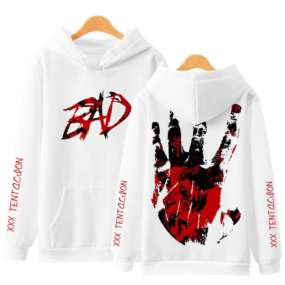 Xxxtentacion BAD Hoodie Ripper Xxxtentacion Hip Hop Rapper 3D Print Hoodies Men Loose Long Sleeve Hooded Sweatshirt Pullover