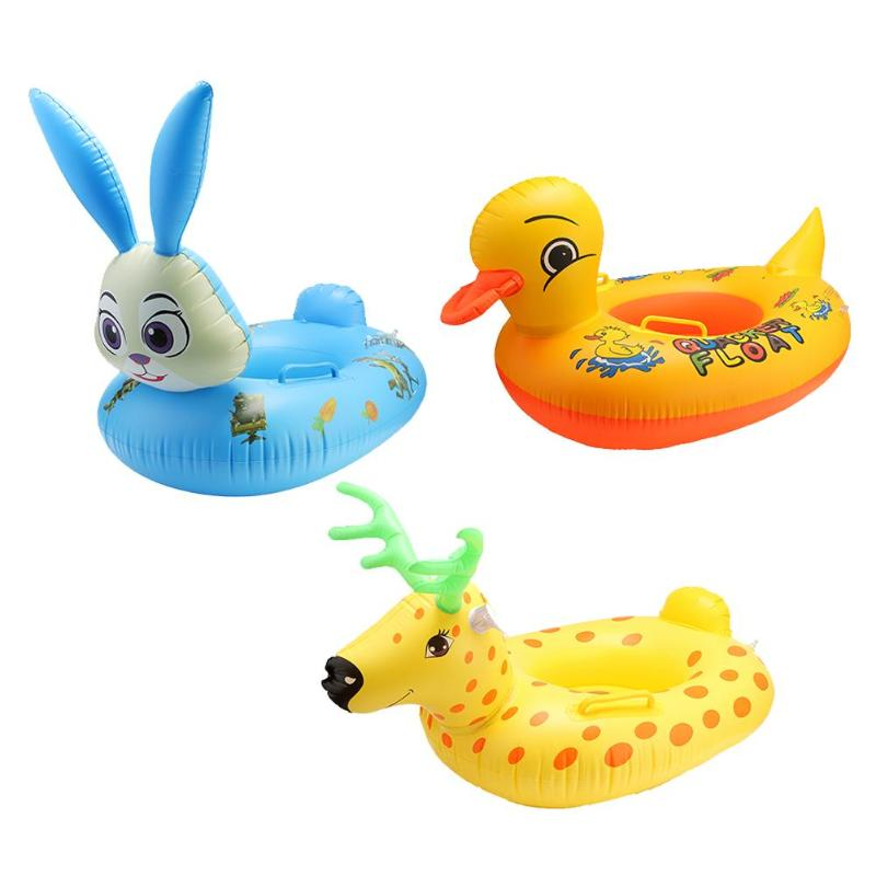 Kids Cartoon Animal  Swim Ring Safety Inflatable Float Circle Mattress For Beach Outdoor Funny Toys For Children