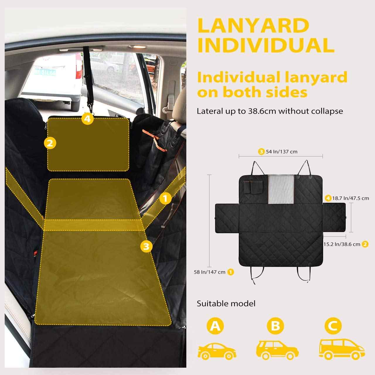 Pleasing Pet Seat Cover Dog Car Seat Cover With Mesh Viewing Window Storage Pocket Dog Hammock Waterproof Non Scratch Large Backsea Short Links Chair Design For Home Short Linksinfo