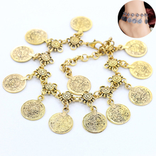 2019 High Quality Women Exquisite Silvery Tassel Coin Anklets Adjustable Girls Allergy Free Drop Shipping 1PC Hot Sale Unique