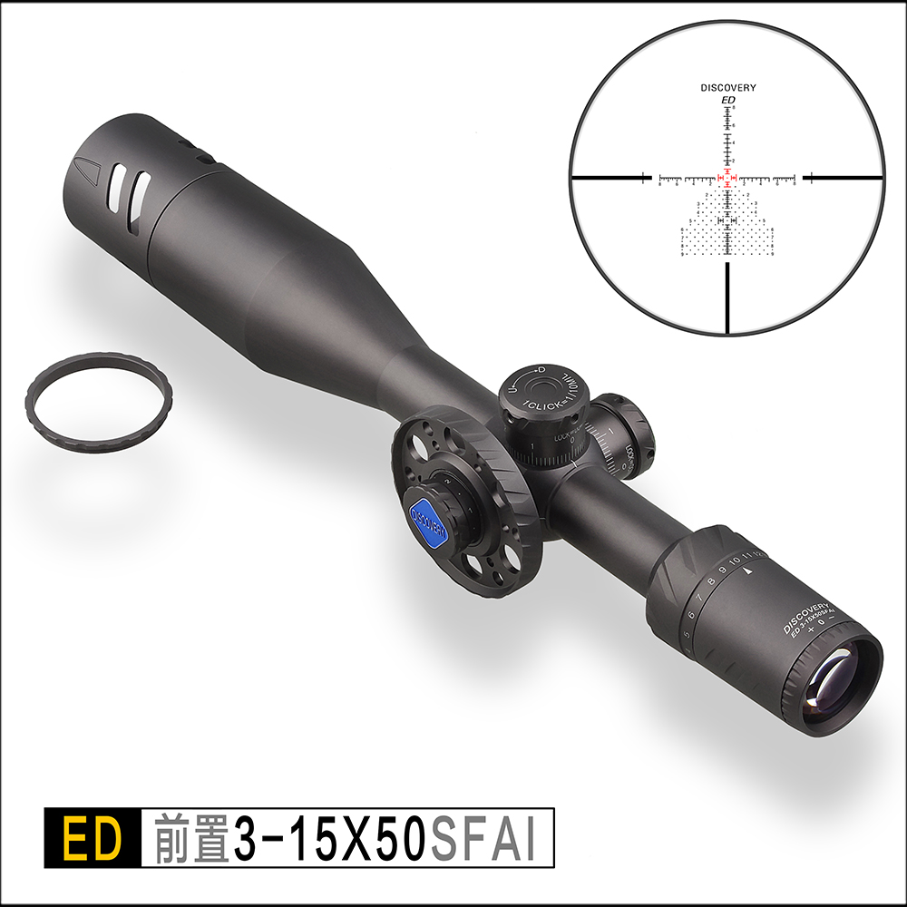 Discovery ED 3 15x50 SFIR tactical Optics Hunting Riflescope extremely low chromatic dispersion First Focal Plane Rifle Scope in Riflescopes from Sports Entertainment