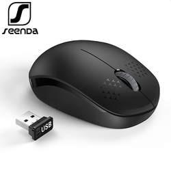 SeenDa бесшумные 2,4 ГГц беспроводной мышь для ноутбука портативный мини Бесшумная мышь бесшумный компьютер мышь для настольного тетрадь PC Mause