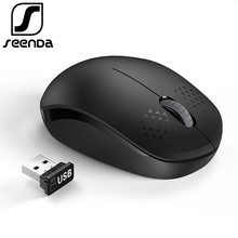 SeenDa Noiseless 2.4GHz Wireless Mouse for Laptop Portable Mini Mute Mice Silent Computer Desktop Notebook PC Mause