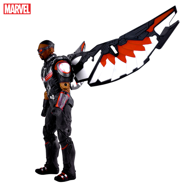 Captain America Marvel Falcon Black Widow Model Super Hero Characters 7 Inch Size Figure Collectible Birthday Gift
