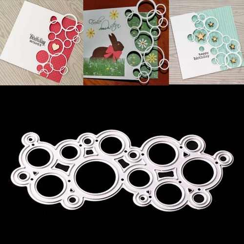 Metal Cutting Dies Stencils Bubble Circle for DIY Scrapbooking Paper Cards Photo Album Decorative Embossing DIY Paper Cards