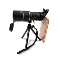 50 X 52 Compact Monocular Zoom Telescope Lens HD Dual Focus Telescope With Stand Clip For Camping Hiking Accessories (Black)