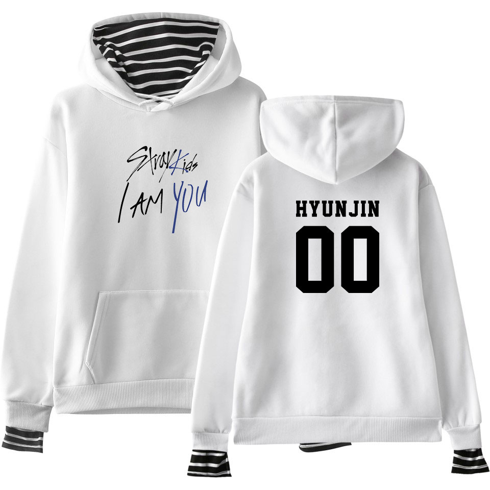 LUCKYFRIDAYF 2018 Stray Kids I Am You Fans Fashion Warm Hoodies Cool Warm Fans Long Sleeve Sweatshirts Hoodies Women/Men Clothes(China)