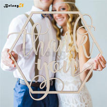 1pcs Thank You Sign Wedding Decoration Rustic Vintage Party Wood Photo Booth for Shoot Props Photobooth Decor