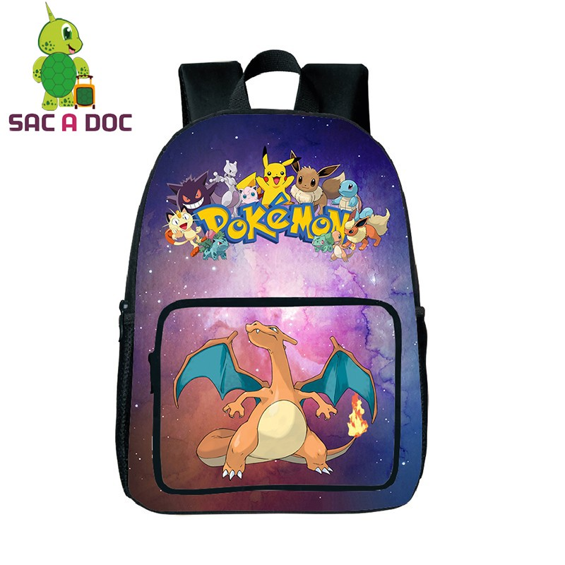2d51fb9df4 Galaxy Star Pokemon Charizard Backpack Teenage Girls Boys Multicolor  Universe Space Printing School Bags Women Men