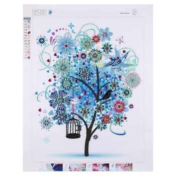 Diamond Painting Special Shaped Diy 5D Partial Drill Cross Stitch Diamond Embroidery Rhinestone Of Picture Arts Craft Blue Tre фото