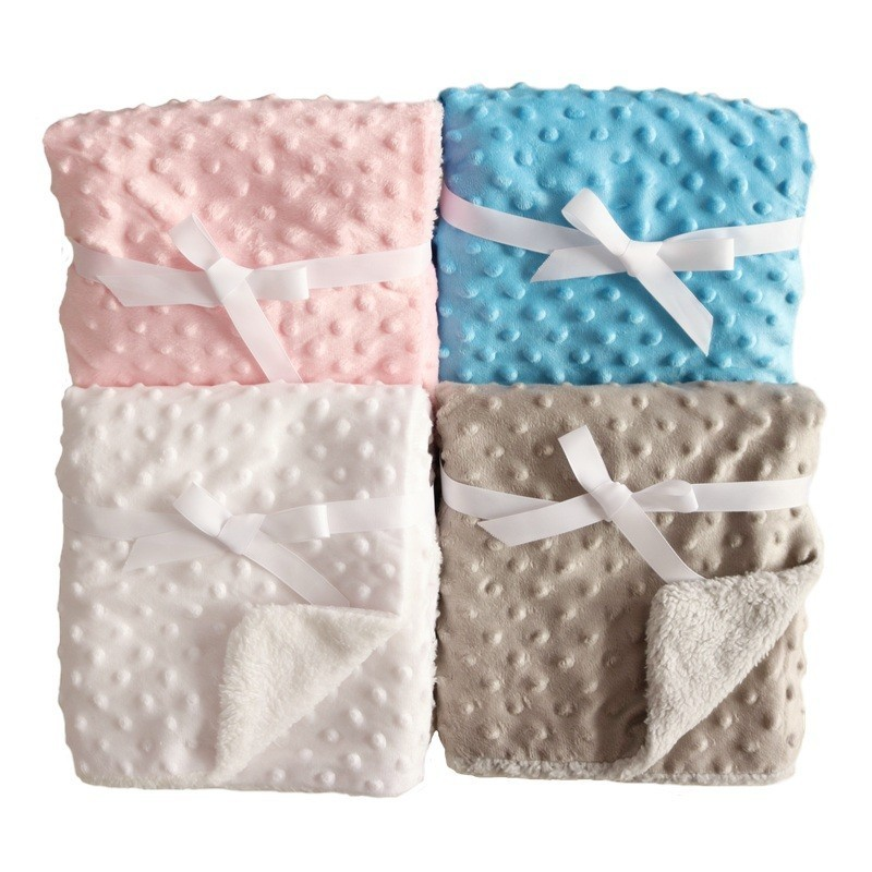 Newborn Baby Blanket Infant Warm Coral Fleece Swaddling Sleep Blankets Soft Baby Quilt Envelopes Wrap Kids Bath Towel Bedding