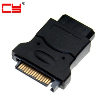 SATA 15Pin Male Power to Molex 4-pin IDE Hard Disk Drive Power Adapter Connector цена 2017