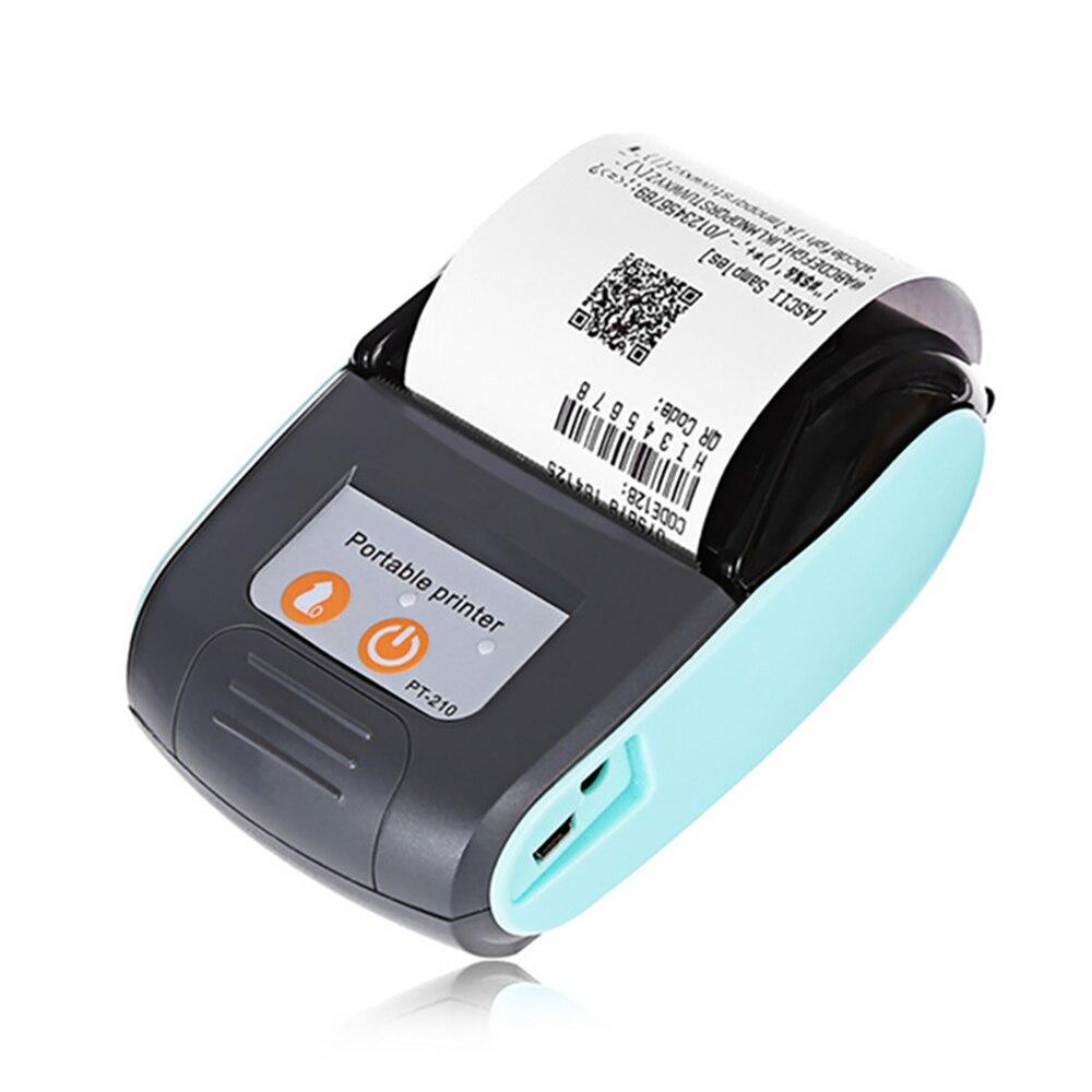 Thermische Printer 58mm Met Carry Case Bluetooth Draagbare Usb Mini Draadloze Ontvangst Ticket Printer Pos Compatibel Met Ios Android Opruimingsprijs