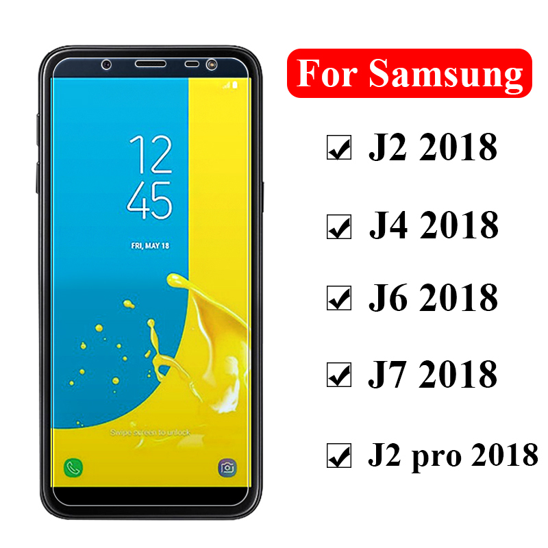 Protective <font><b>glass</b></font> on the for <font><b>Samsung</b></font> <font><b>galaxy</b></font> j6 <font><b>j4</b></font> j2 pro j7 <font><b>2018</b></font> tempered j 6 4 2 7 screen protector samsun galax glas tremp film image