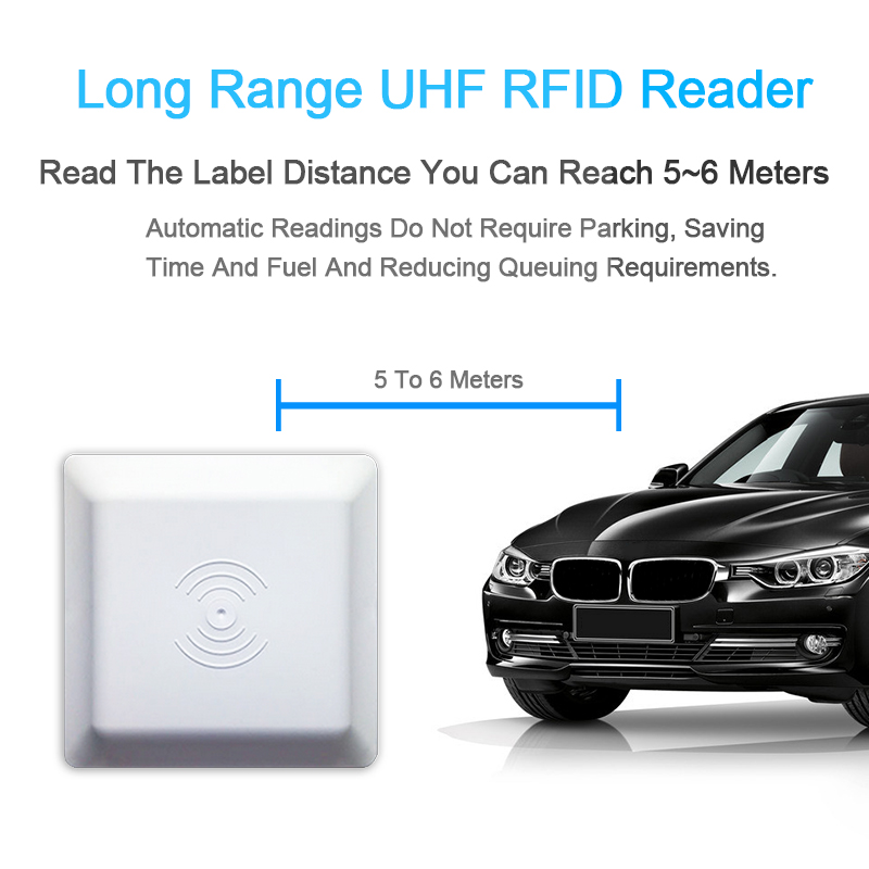 UHF RFID Antenna 6m Long Distance Range With 8dbi Antenna For Parking RS232RS485Wiegand SDK Integrative UHF Long Range Reader|Control Card Readers| |  - title=