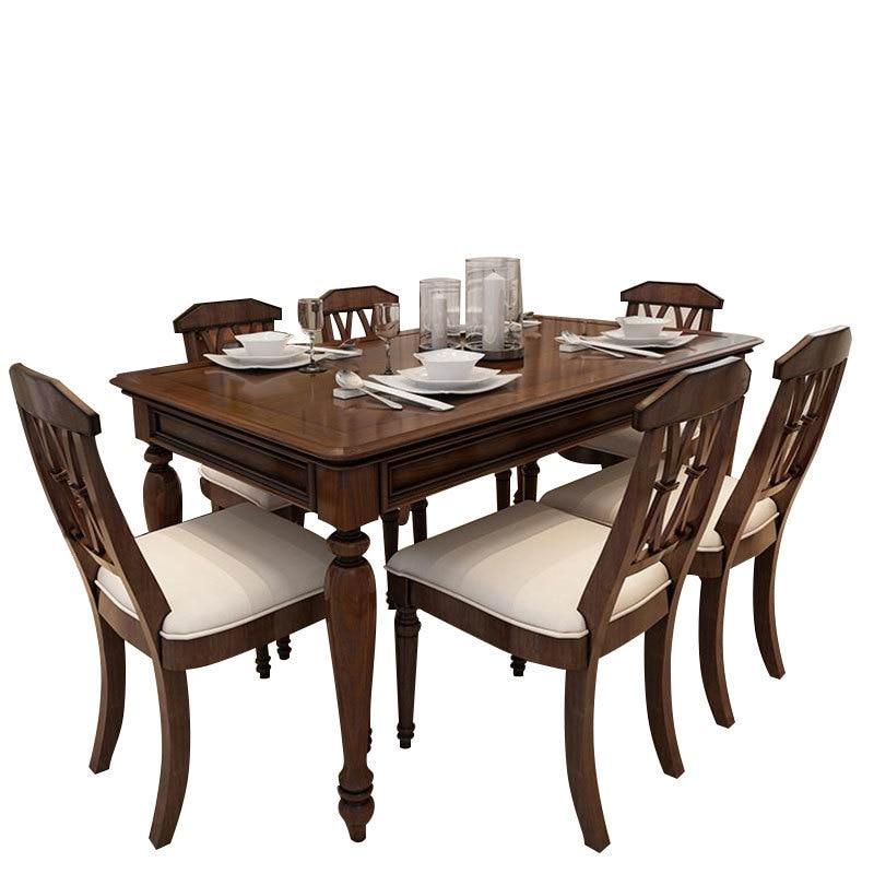 Sala Piknik Masa Sandalye Pliante Comedores Mueble Dinning Set rétro bois De Jantar Bureau Tablo Mesa Comedor Table à manger