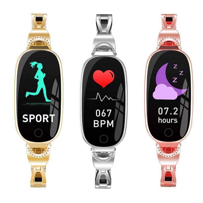 Bracelet intelligent étanche Cycle physiologique rappel d'information sommeil détection sang oxygène élégant belle Android Apple