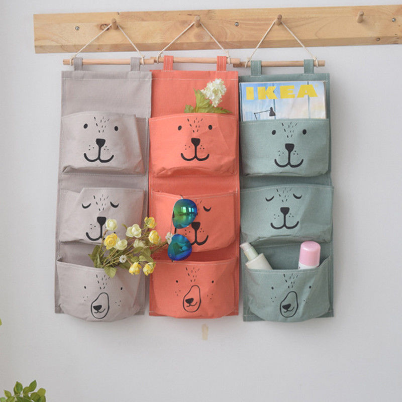 5 Pockets Closet Door Home Wall Hanging Organizer Storage Stuff Bag Pouch new#V