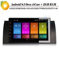 9 DAB+Car GPS Navigation Player Android 8.1 Autoradio Sat Nav WiFi 4G Radio DVR BT OBD for BMW 5 serie E39 X5 E53 M5 Car stereo
