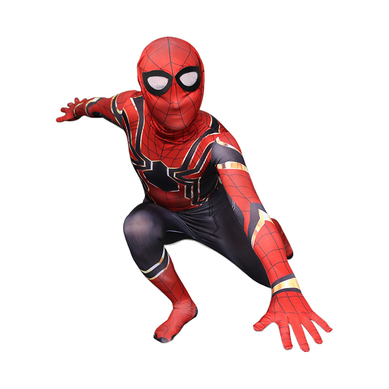 Deluxe Spandex Spiderman Costume Adult Avengers Infinity War Spider-Man Jumpsuit Halloween Party Cosplay Costume