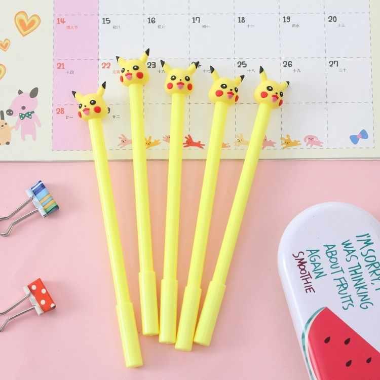 Ellen Brook 1 Piece Korea Stationery Cute Cartoon Kawaii Pikachu Cat Animals Gel Pen School Supplies Office Handles Gift