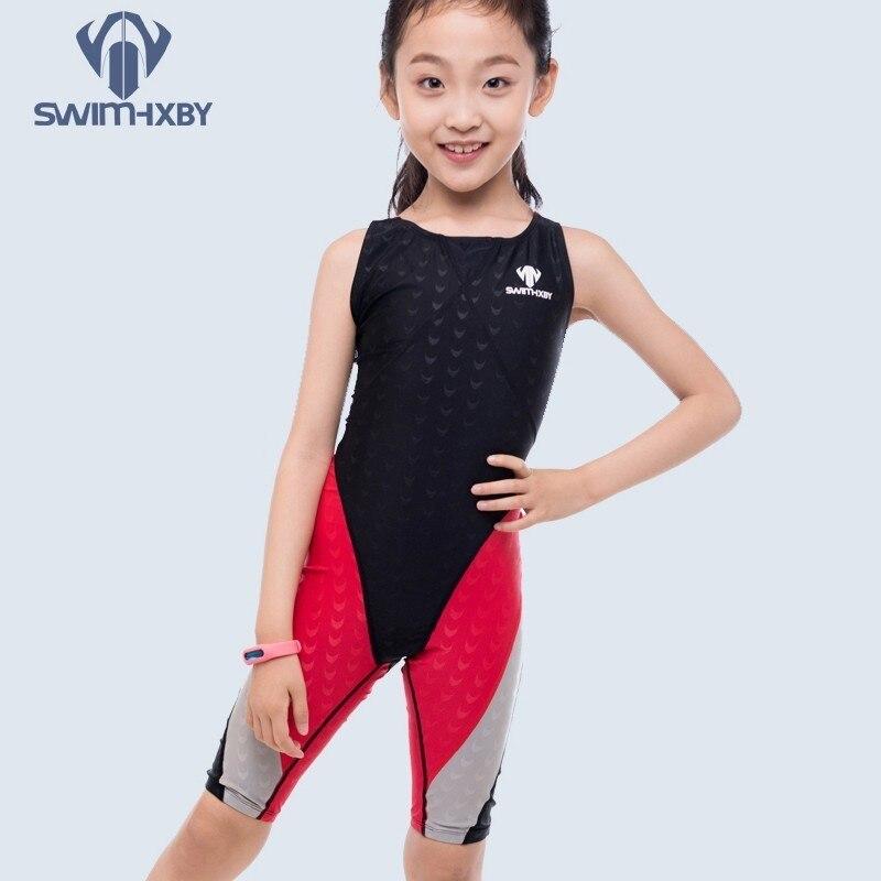 Meninas de Corrida Hxby Crianças Maiô Profissional Banho um Pedaço Treinamento Atlético Esportes Natação Terno Menina