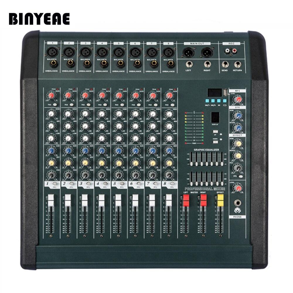 new mx808d usb professional power audio dj mixer 8 channel mezcladora de dj power 350wx2 in. Black Bedroom Furniture Sets. Home Design Ideas