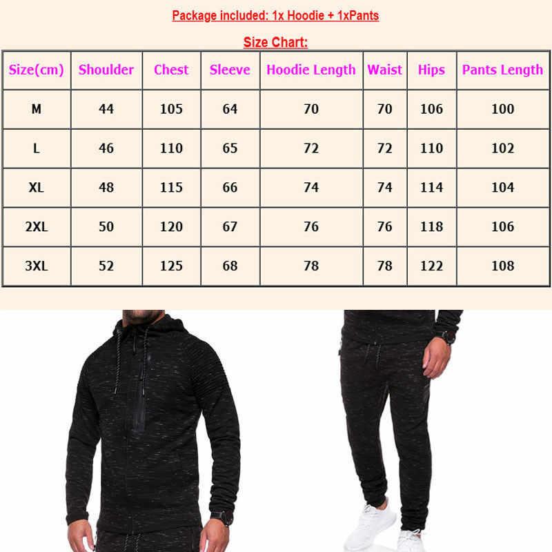 Мужской черный спортивный костюм, наборы для занятий спортом на открытом воздухе, толстовка с капюшоном, пальто, куртка + брюки, тренировочные брюки, костюм, зимний комплект одежды для упражнений
