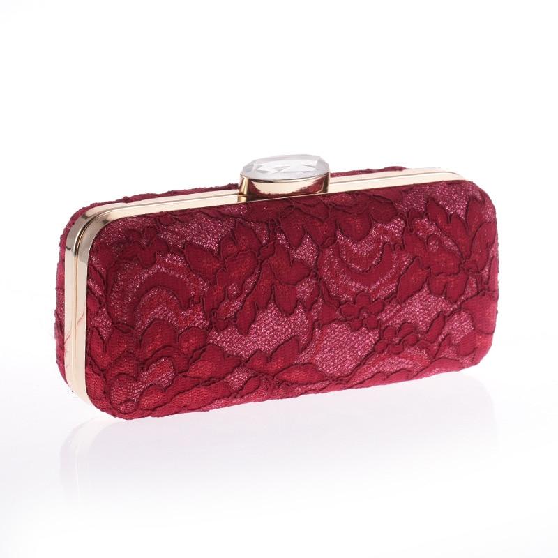 Vertrouwend Luxe Hollow Out Rood Zwart Wit Kant Banket Tas Vrouwen Elegante Vintage Gouden Avond Party Clutch Bag Diamant Bruiloft Tas