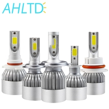 2X White H4 H7 H11 H1 H3 9005 9006 COB Car LED Headlight Bulbs Hi-Lo Beam 72W 8000LM 6500K Auto Headlamp Led Car Lights DC12v 24 mirian sansalone purpose high