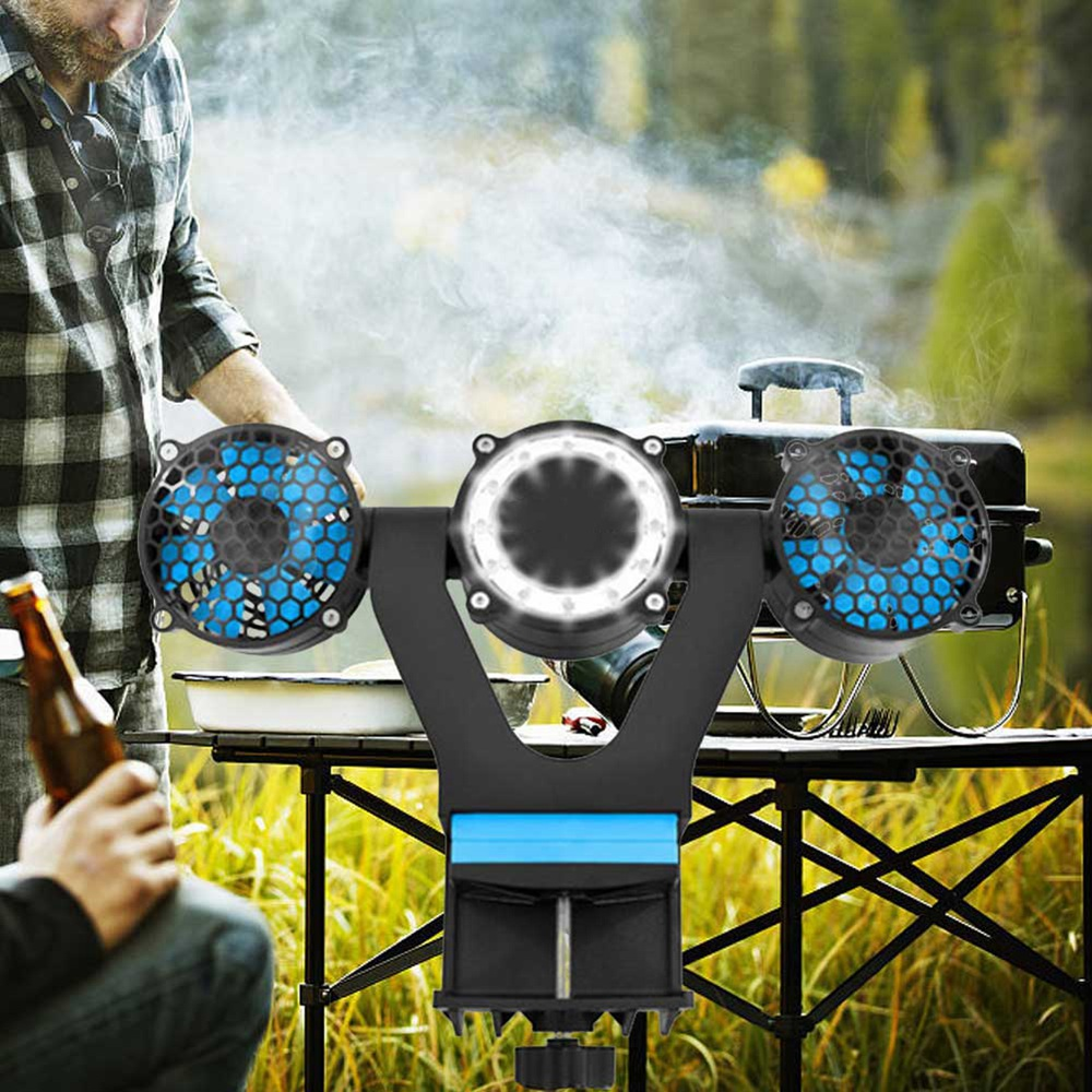 Professional Bbq Fan Air Rotating Cooling Fan For Barbecue Air Blowers Barbecue Outdoor Camping Picnic Barbecue Cooking Tool in Fans from Home Appliances