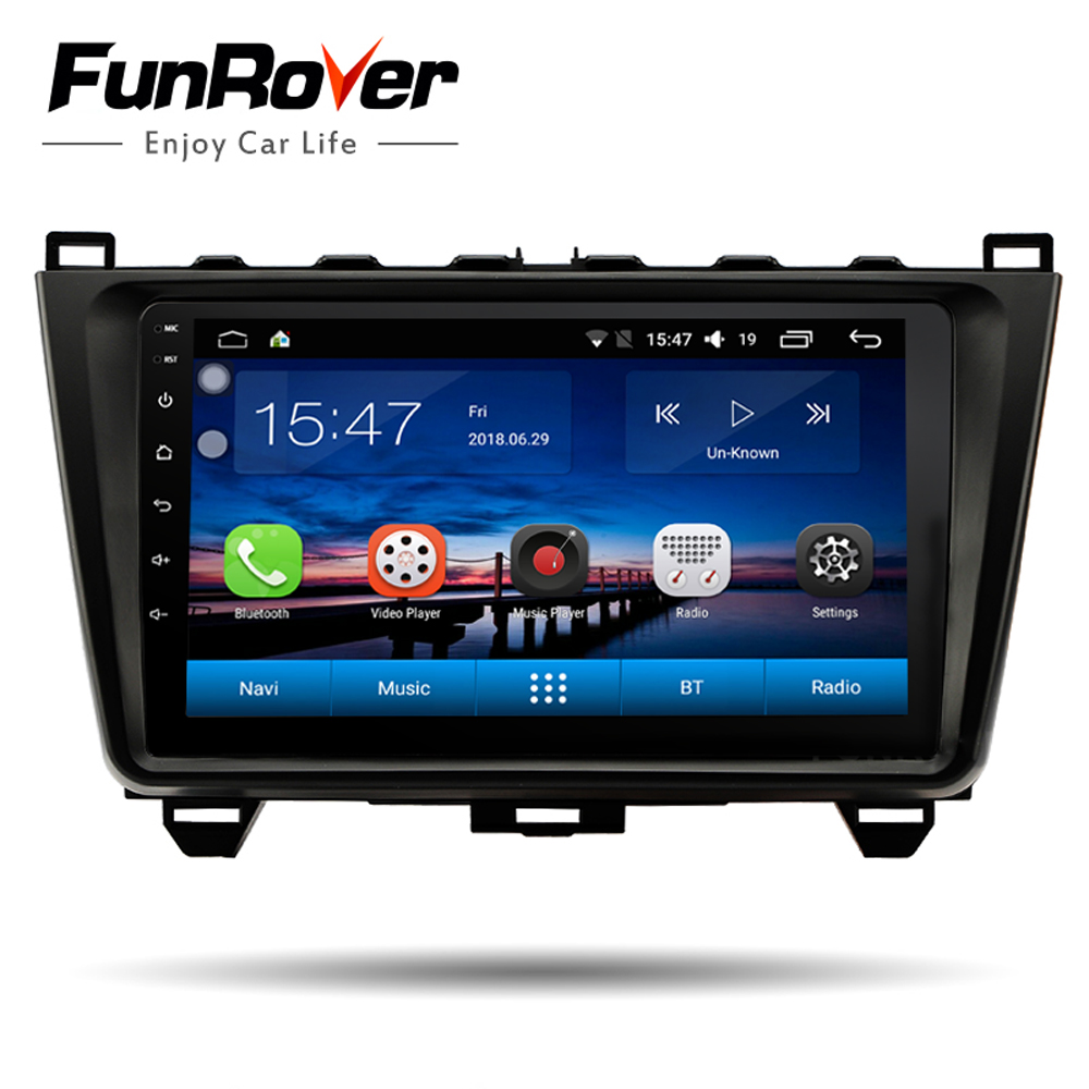 Funrover android 8.0 voiture dvd 9 2 din stéréo multimédia radio player pour MAZDA 6 Rui aile 2008- 2015 wifi GPS navigation m-lien