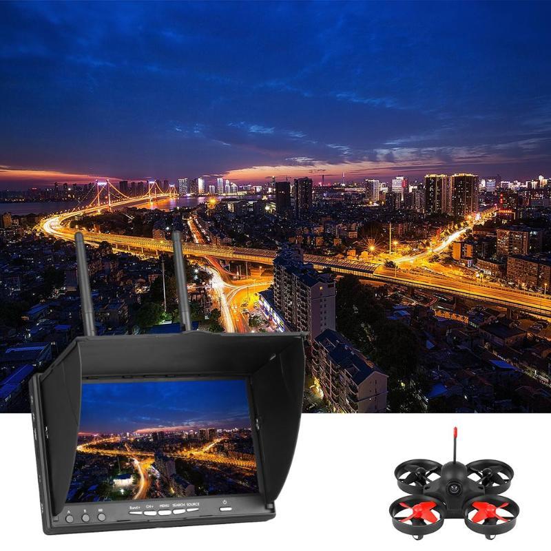 7 นิ้วจอภาพ FPV LT5802S 5.8G 40CH LED Backlight Multicopter พร้อม Build in แบตเตอรี่ TFT หน้าจอ LCD 800*480 ความละเอียด 600 CD/m2-ใน ชิ้นส่วนและอุปกรณ์เสริม จาก ของเล่นและงานอดิเรก บน   1