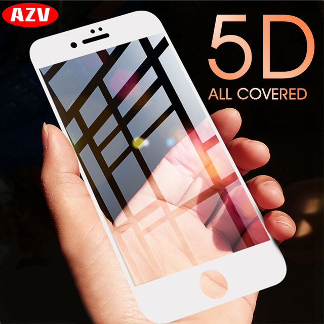 AZV Protective Glass On The For iPhone 6 7 6S 8 Plus X Tempered Screen Protector Protective Glass For iPhone 8 7 6 6s Plus Film