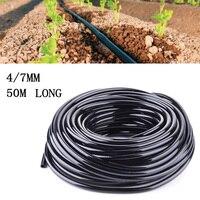 50 m Rega Tubos de PVC Hose Pipe 4/7 milímetros Micro Gotejamento Sistema de Irrigação Do Gramado Do Jardim