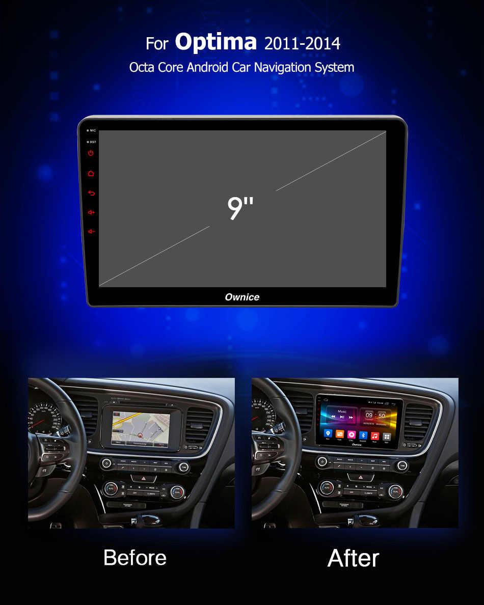 "Ownice C500 + G10 9 ""Android 8.1 2din Auto Dvd-speler voor KIA Optima 2011-2014 gps radio 2G RAM Ondersteuning 4G LTE DAB Radio Carplay"