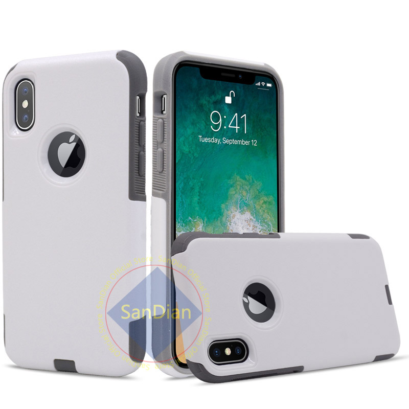 Dual Layer Hybrid <font><b>Armor</b></font> <font><b>Shockproof</b></font> PC and TPU Combo Protective Cover <font><b>Case</b></font> <font><b>For</b></font> <font><b>iPhone</b></font> 6 7 8 X XR 5 SE PLUS XS MAX Hard Back Shell image