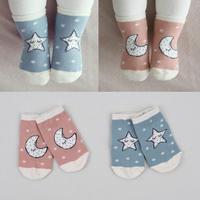 Новинка! 2018 Весна Осень зима, Детские хлопковые носки с рисунком звезды, нескользящие носки тапочки для новорожденных мальчиков и девочек, в